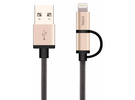 JCPAL Mesh kabel Lightning/microUSB
