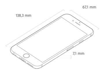 Wymiary iPhone 6s