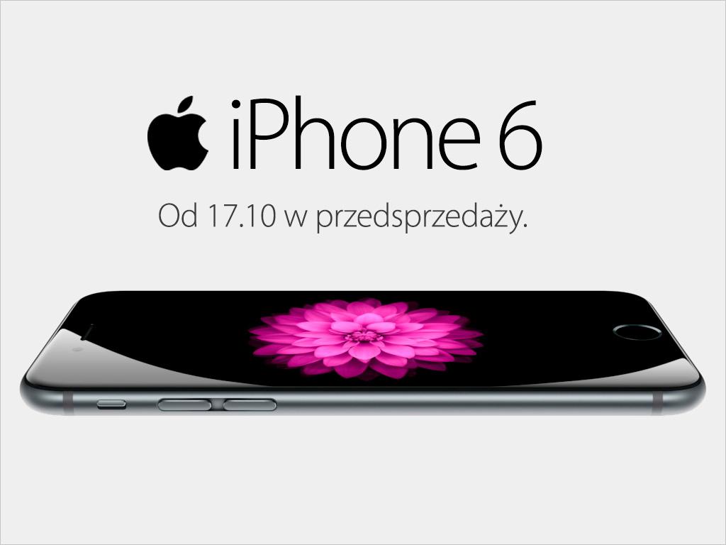 17.10 rusza przedsprzedaż iPhone'a 6 w Cortland.