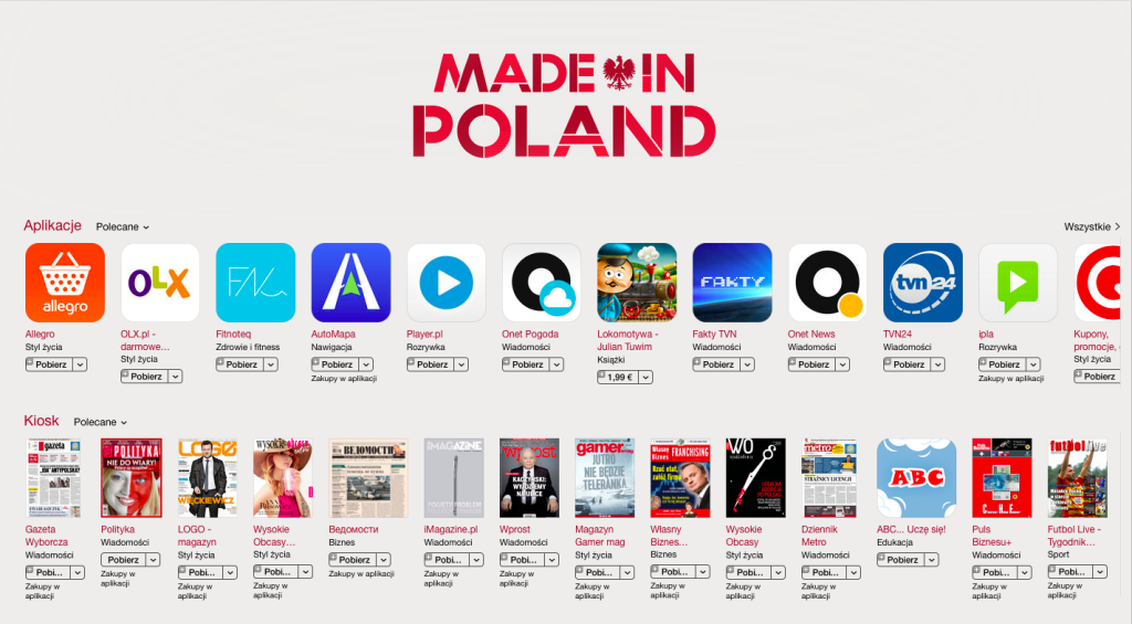 Made in Poland – nowa sekcja w App Store.