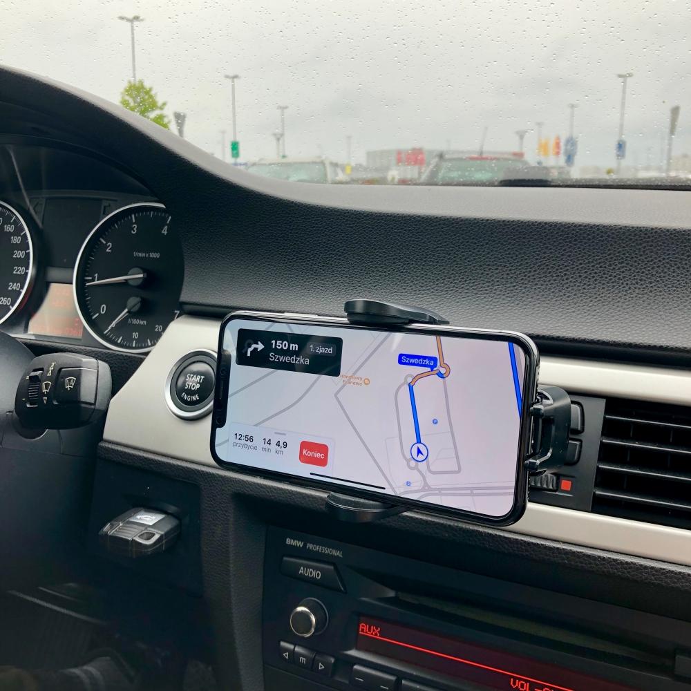 Rock W2 - uchwyt samochodowy z bezprzewodowym ładowaniem