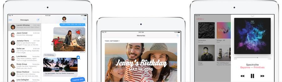 iPad iOS 10