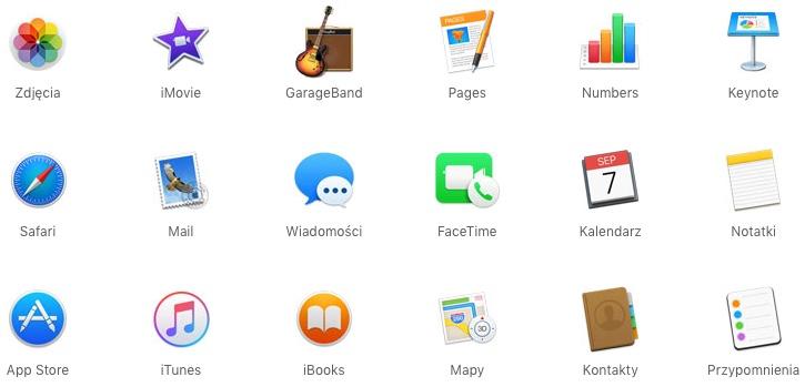 Aplikacje macOS