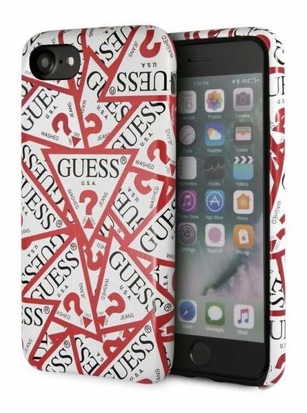 822a610913 Guess Triangle All Over etui do iPhone 8/7 (biały)   Sklep Cortland ...