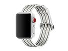 Apple Watch pasek z plecionego nylonu w szare prążki