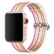 Apple Watch pasek z plecionego nylonu w różowe prążki