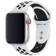 Apple pasek sportowy Nike w kolorze czystej platyny/czarnym