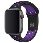 Apple pasek sportowy Nike w kolorze czarnym/mocnego fioletu