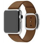 Apple Watch pasek w kolorze brązowym z klamrą nowoczesną