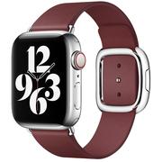 Apple pasek w kolorze kamienia granatu z klamrą nowoczesną