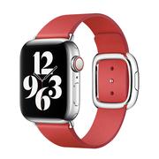 Apple pasek w kolorze szkarłatnym z klamrą nowoczesną