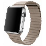 Apple Watch pasek skórzany w kolorze piaskowca