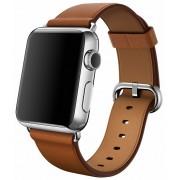 Apple Watch pasek w kolorze brązowym z klamrą klasyczną