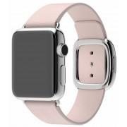 Apple Watch pasek w kolorze delikatnego różu z klamrą nowoczesną