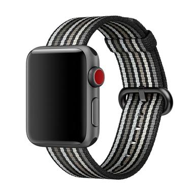 Apple Watch pasek z plecionego nylonu w czarne prążki