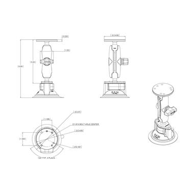 RAM Twist Lock Suction Cup