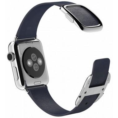 Apple Watch pasek w kolorze nocnego błękitu z klamrą nowoczesną